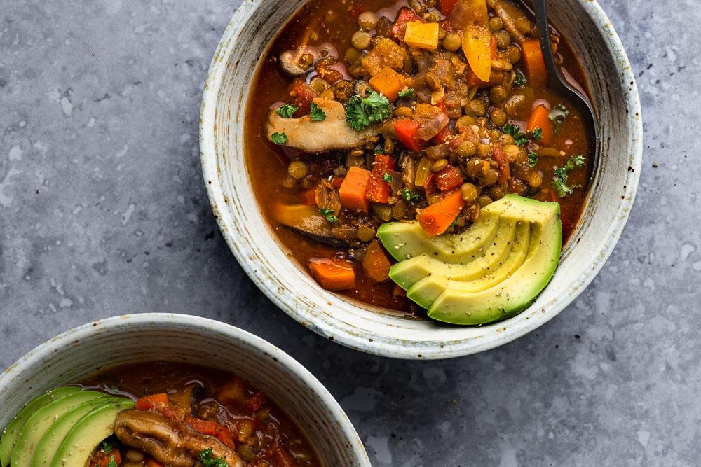Weeknight Lentil Chili Plant Based Recipes By Ashley Madden