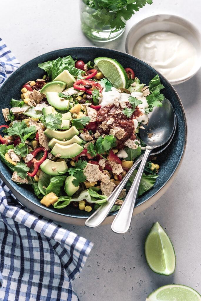 the best vegan taco salad